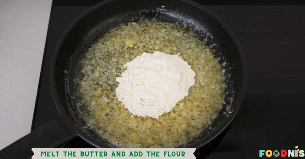 Melt the butter and add the flour