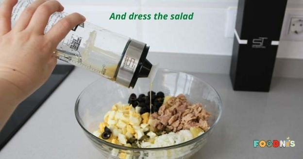 And dress the salad