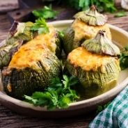 Zucchini stuffed Recipe with minced meat